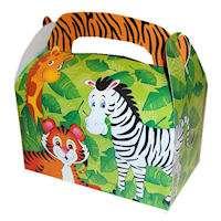 48 lot Jungle Safari Zoo Animal Party Treat Box
