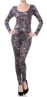 Unitard/Leotard Bodysuit. Leopard Tiger Print. Long Short Sleeve Plus