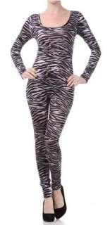 Unitard/Leotard Bodysuit. Leopard Tiger Print. Long Short Sleeve Plus