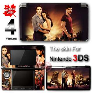 Twilight EDWARD BELLA JACOB SKIN STICKER COVER for Nintendo 3DS