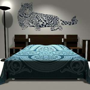 HUGE LEOPARD CAT WALL ART STICKERS GRAPHIC DECALS TRANSFER LARGE