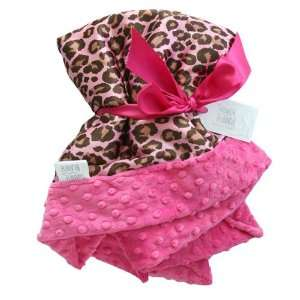 Hot Pink Leopard Printed Satin Receiving Blanket: Baby